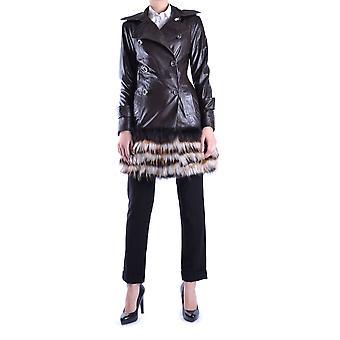 Balizza Ezbc206005 Damen's braun Leder Outerwear Jacke