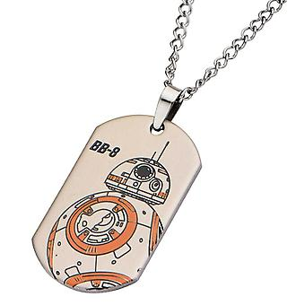 Star Wars BB-8 Stainless Steel Dog Tag Pendant