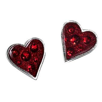 Alchemy Gothic Heart's Blood Pewter Stud Earrings
