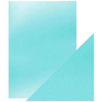 Handwerk perfekte Tonic Studios A4 Spiegel Karte Satin Effekt seidig Himmel Pack von 5