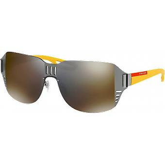 Prada SPS05S Gunmetal gray mirrored gold