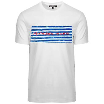 Michael Kors White markør trykt logo T-skjorte