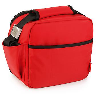 Valira Nomad Red Lunch bag cu 2 containere alimentare