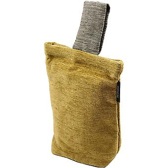 Mcalister textiles alston chenille yellow + grey door stop