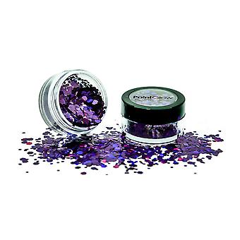 PaintGlow holografische Chunky glitter Shaker Purple Fury