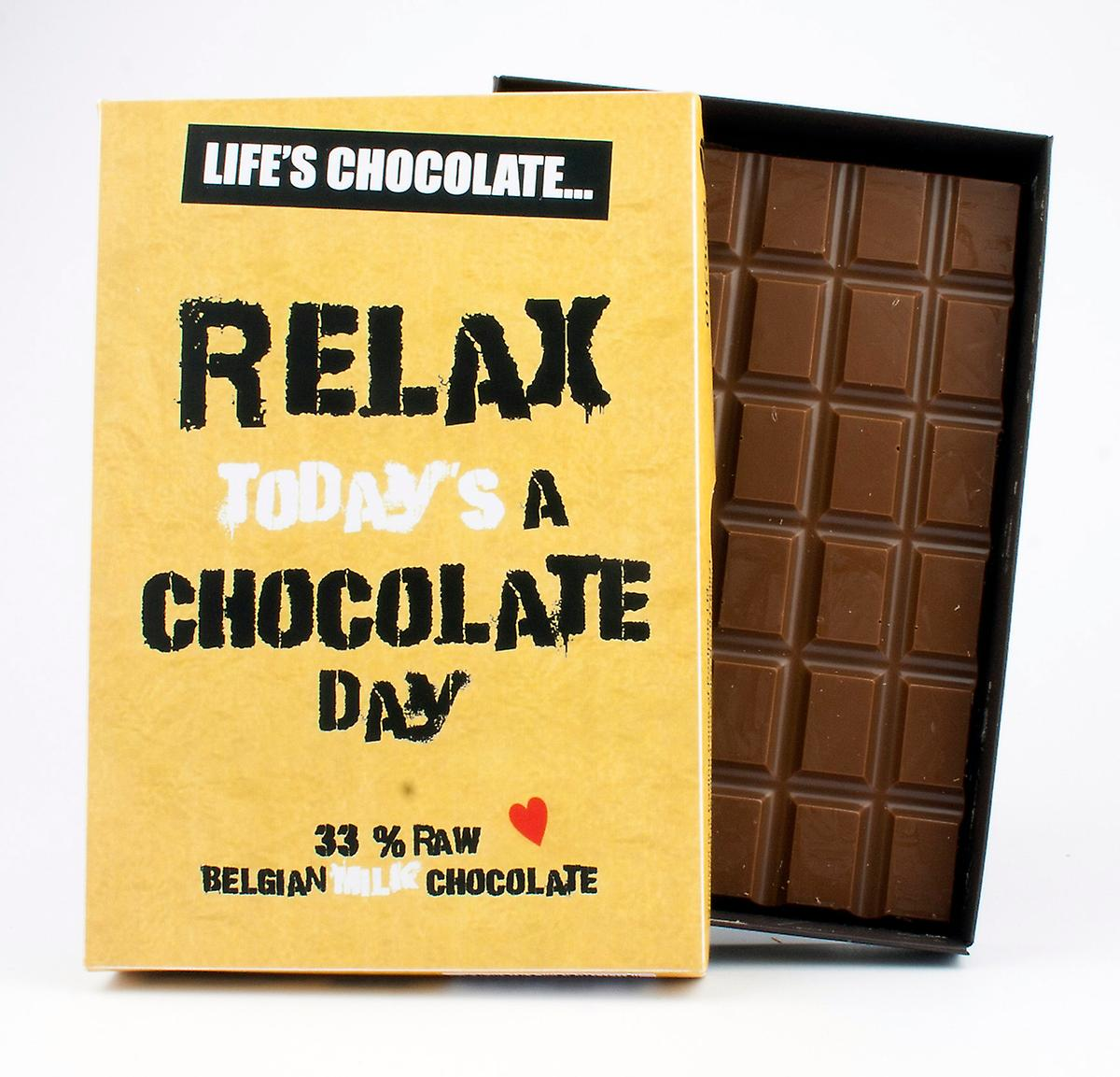 Funny Boxed Chocolate Quote Gift For Men Women Best Friend Greeting Card for Him or Her LC112