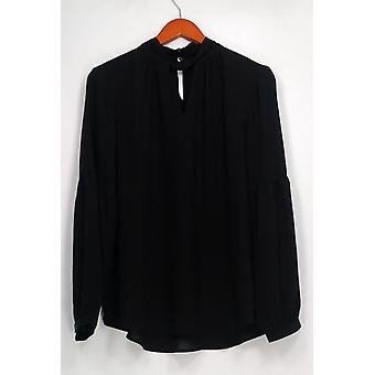 Laurie Felt Top Woven with Keyhole Detail Cutout Black A301673