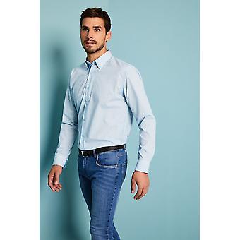 SIMON JERSEY Men's Turquoise Patterned Shirt
