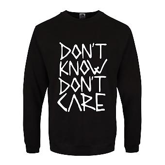 Grindstore Mens Don't Know Don't Care Pullover