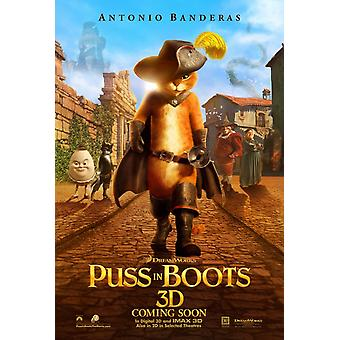 Puss In Boots Poster Double Sided Advance Style B (2011) Original Cinema Poster