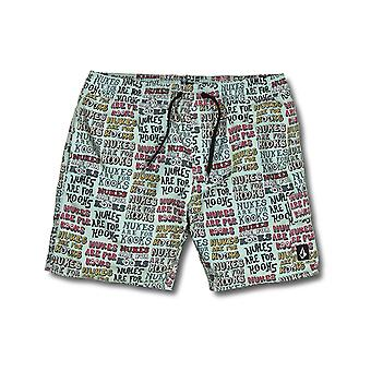 Volcom True Trunks Elasticated Boardshorts in Sea Glass