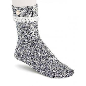 Birkenstock Damen Slub Socken Spitze 1015044 Blau