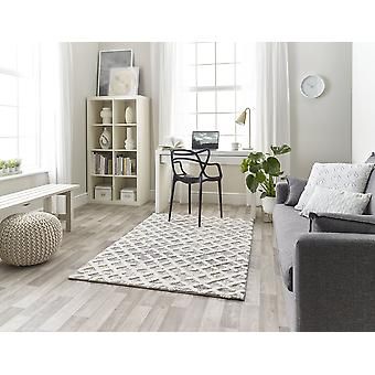 Maison 7878a White Lt Grey  Rectangle Rugs Plain/Nearly Plain Rugs