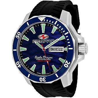 Seapro Men's Scuba Dragon Diver Limited Edition 1000 Meters Blue Dial Watch - SP8311