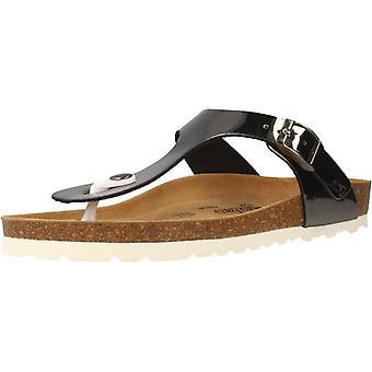 Gele winkel antracietkleurige Arosas sandalen
