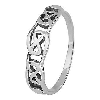 Keltische eeuwigheid geïnterlinieerde ring