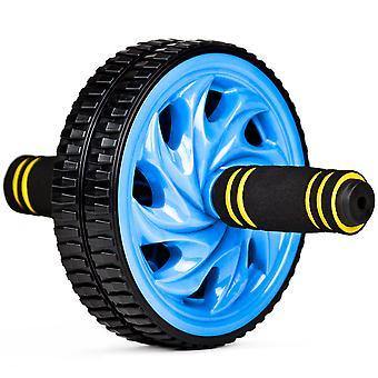 Ab Wheel - Dual Wheel Roller w Non-Slip Grip, Blue