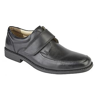 TredFlex Tristen Mens Leather Touch Fasten Casual Shoe Black