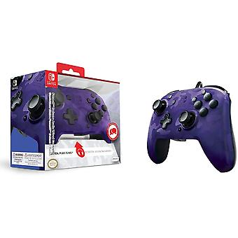 PDP Nintendo Switch Face-off Deluxe Controller + Audio (Camo Purple) For Switch