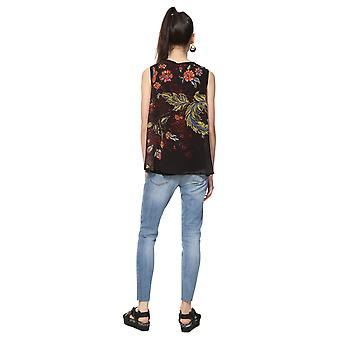 Desigual Women's Olaf Sleeveless Floral Print Blouse