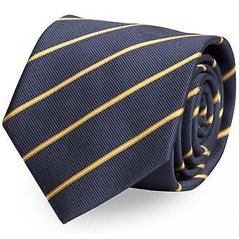 Tie tie tie tie 8cm blue yellow gold striped Fabio Farini