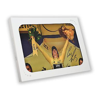 Geraint Thomas Signed Tour De France Photo: 2018 Champion Gift Box