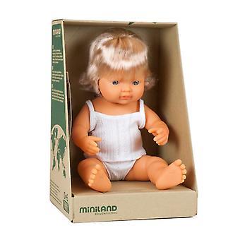 Miniland Baby Doll European Girl 38Cm