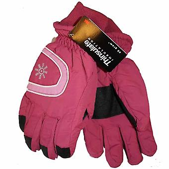 New Ladies Ski Thinsulate Lined Warm Winter Thermal Snow Gloves GL38