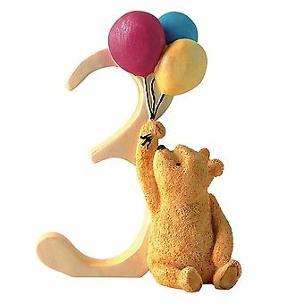 Classic Pooh Age 3 Pooh With Balloons Figurine