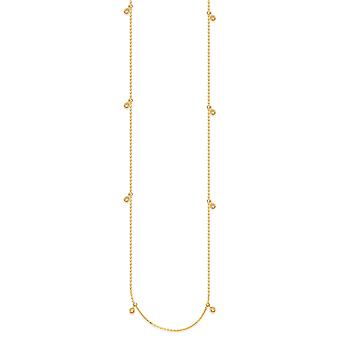 14k Yellow Gold Long and Lovely 0.25 Dwt Diamond Dangle Necklace 36 Inch Jewelry Gifts for Women