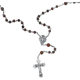 925 Sterling Silver 14.5 Inch Red Cloisonne Rosary Necklace Jewelry Gifts for Women - 41.8 Grams