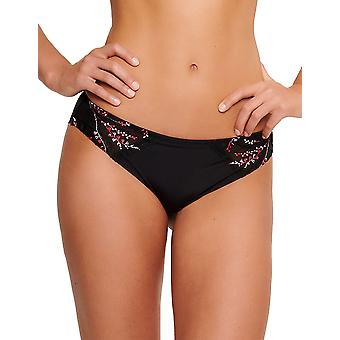 LingaDore 5023B-02 Women's Peralta Black Embroidered Knickers Panty Full Brief