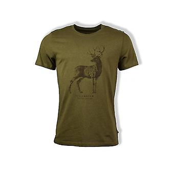 Fjällräven Deer Print Short-Sleeved T-Shirt (Tarmac)