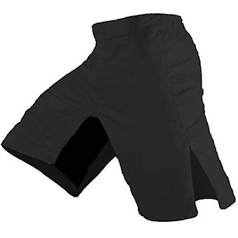 Quality MMA Shorts - Blank No Logo (38, Black)