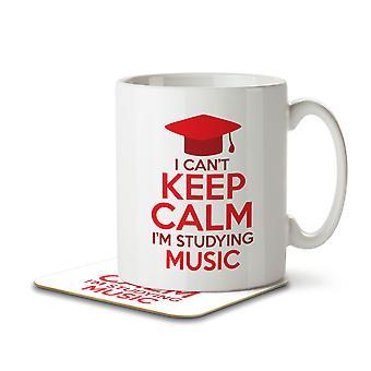 I Can't Keep Calm I'm Studying Music - Mug and Coaster