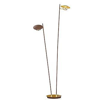 WOFI Nogan Modern 2 Light Led Floor Lamp In Gold Finish 3279.02.15.6000