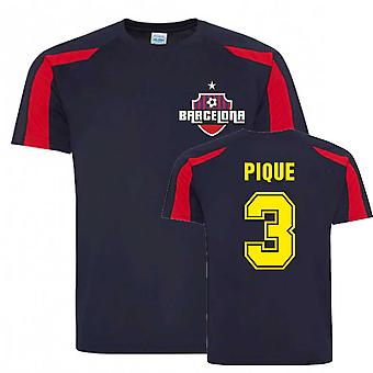 Gerard Pique Barcelona SportsTræning Jersey (Navy)