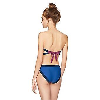 U.S. Polo Assn. Women's Mondrian Styled Bandeau Monokini, Blue, 10