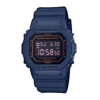 G-Shock Watches Dw-5600bbm-2er Matt Black & Blue Resin Digital Watch