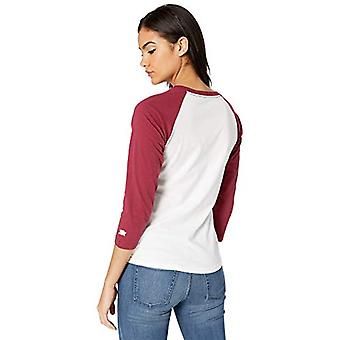 Starter Women's Logo Baseball Tee,  Exclusive, White with Team Maroon, M