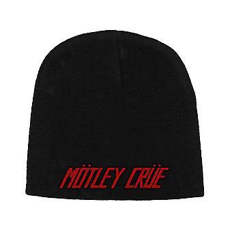 Motley Crue Beanie Hat Classic Band Logo new Official Black