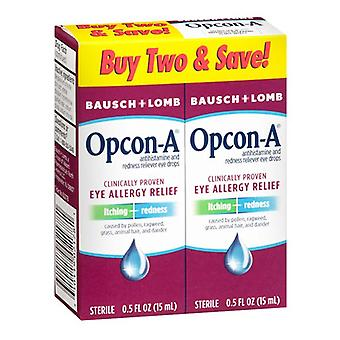 Bausch + lomb opcon-a allergy relief eye drops, 2 x 0.5 oz
