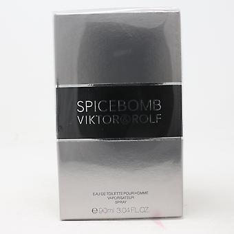 Spicebomb door Viktor & Rolf Eau De Toilette Homme 3.04oz/90ml Spray New With Box