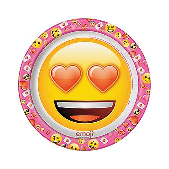 SALE - 8 Valentines Day Emoji Icons Large Party Plates