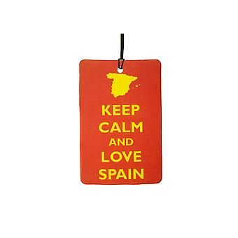 Keep Calm And Love Spain Car Air Freshener