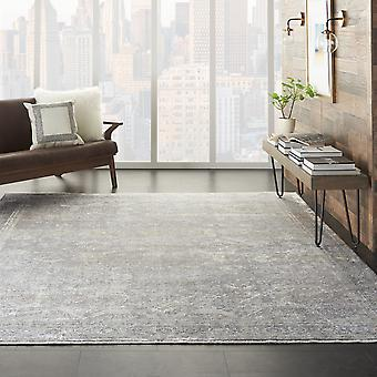 Starry Nights Traditional Medallion Rug Stn03 In Silver Cream