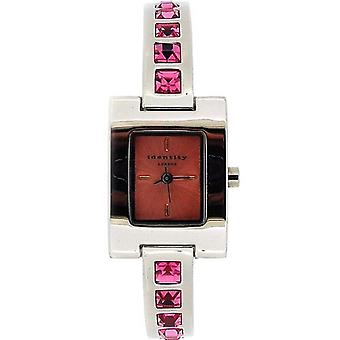 Identité Londres Ladies Watch extensible rose cristal robe & bracelet coffret