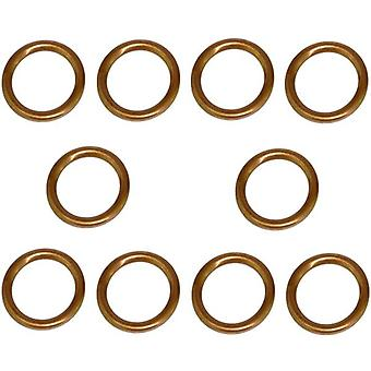 14Mm Oil Sump Plug Washers (Set Of 10) Or Peugeot, Citroen, Volvo & Toyota 30725034, 8653809, 0313.27