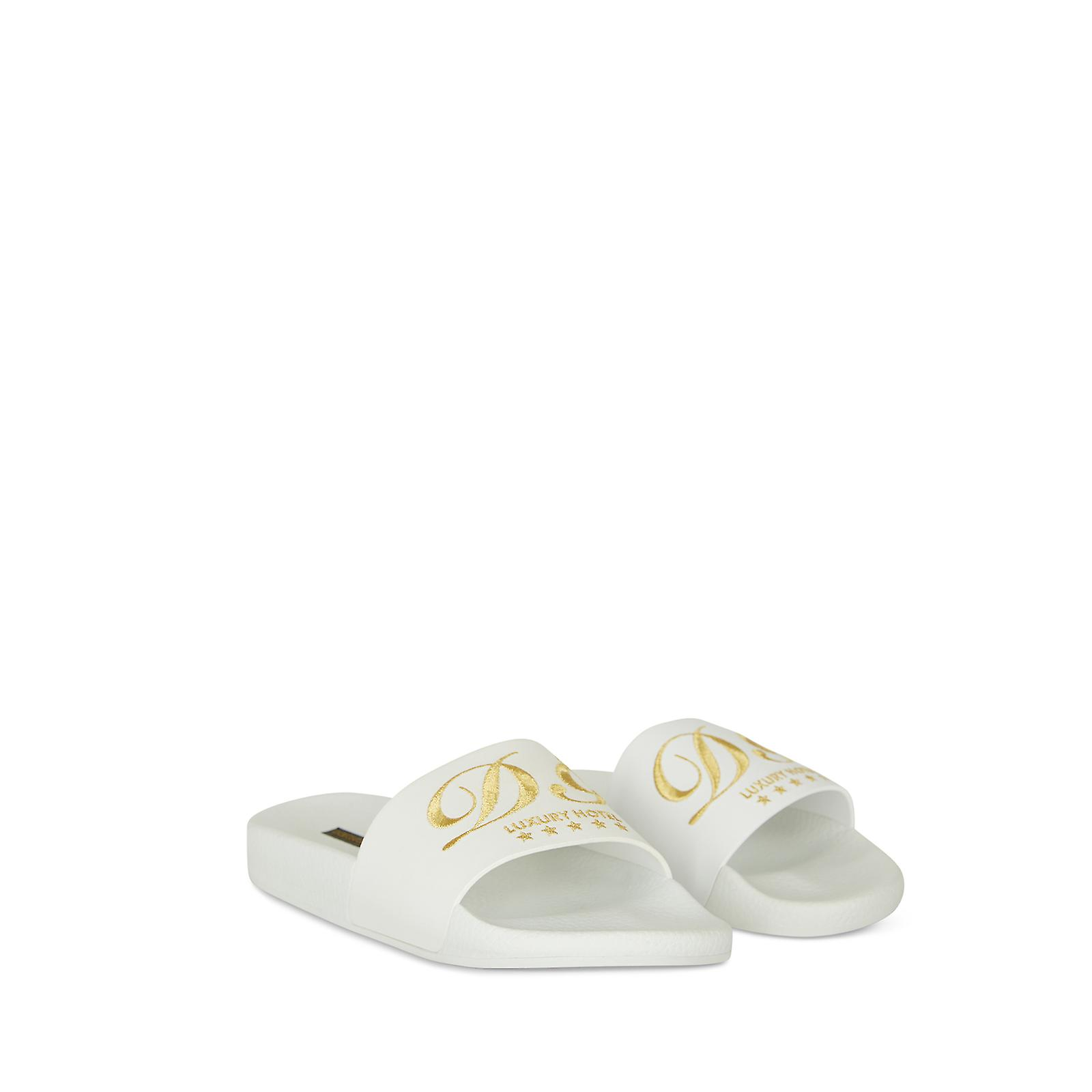Dolce & Gabbana Solid-coloured calf slippers with rubber sole ALqi0
