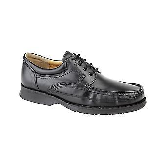 Roamers schwarz Softie Leder Kanu Front Schürze Krawatte Schuh